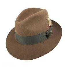 fbc298bbd04eb Temple Fur Felt Fedora Hat