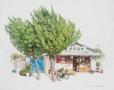 Charming new paintings of South Korea's little convenience stores by Me Kyeoung Lee | Creative Boom
