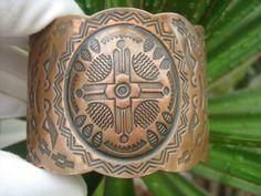 Bell Trading Post wide copper cuff bracelet southwestern vintage #BellTradingPost