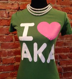 Alpha Kappa Alpha T-Shirt GreenWill ship on by DesignsStyled4You