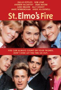 Elmo's Fire: Rob Lowe, Andrew McCarthy, Demi Moore, Judd Nelson - Look how young they all are. 80s Movies, Great Movies, Movies To Watch, Awesome Movies, Andrew Mccarthy, Emilio Estevez, Demi Moore, Film Music Books, Music Tv