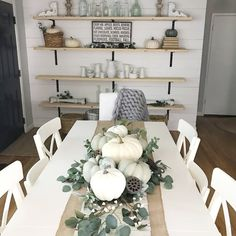 As an alternative to choosing crisp, bright shades just like you would in a really modern French Farmhouse Fall Table Design , you might want to think about choosing colors which have a little vintage or antique feel to them.