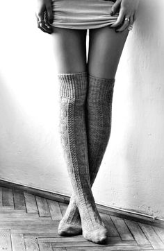 thigh high socks for winter when you don't want to wear pants? Or just because my house is cold in summer.