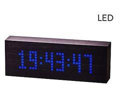 Reloj despertador Black - negro y azul