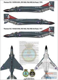 HODAL48007V1 1:48 HobbyDecal - Phantom FG.1 892 Nas, HMS FAA Ark Royal #AL48007V1
