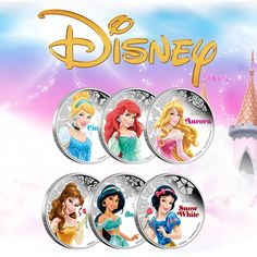Which is your favourite Disney princess? Collect your favourite ones or the whole set of these exquisitely coloured silver coins!