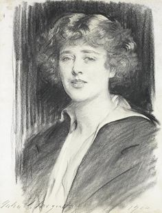 View Portrait of Mrs Hardt by John Singer Sargent on artnet. Browse upcoming and past auction lots by John Singer Sargent. John Singer Sargent, Sargent Art, Famous Artists, Great Artists, Charcoal Portraits, Portrait Illustration, Art Illustrations, Charcoal Drawing, American Artists