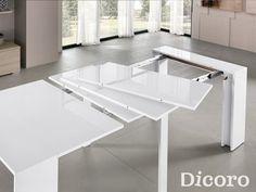 Mesas de comedor extensibles modernas Zafiro