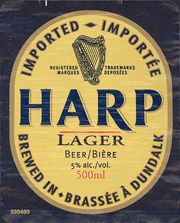 Ten Best Irish Beers # 6.   This special Irish lager is part of Diageo and has been brewed by Guinness since 1960 in it Dundalk brewery. It has a distinct clean and refreshing taste.
