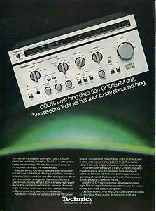 1981 TECHNICS SU-V8 Stereo Receiver Original Vintage Color AD