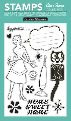 October Afternoon - Clear Stamps: Housewife - Scrapabilly