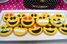 Fun cookies at a Instagram and Facebook birthday party! See more party ideas at CatchMyParty.com!
