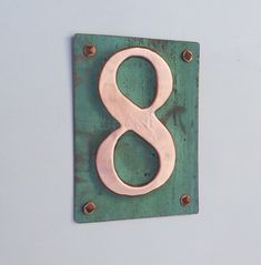 Metal Plaque house number  in polished on  by DavidMedmdingsDeSign