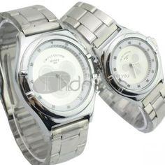 Brancos casal Mickey relógios padrão