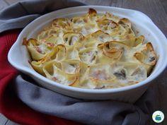 Rotolini di lasagne ai funghi e prosciutto