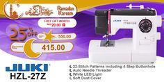 Juki HZL-27Z #ramadan #kareem #discount #sale #sewing #machine #juki #stitch #fashion #online #mall