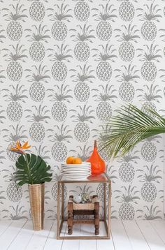 Pineapple Wallpaper Roundup - The Hawaiian Home 9e246da32bd