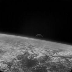 Moonrise over Earth by Rosetta