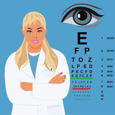female doctor with eye chart, ophthalmologist, vector illustration What Is Psoriasis, Psoriasis Arthritis, Psoriasis Cream, Psoriasis Remedies, Plaque Psoriasis, Eye Chart, Female Doctor, Diet