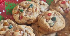 A food blog featuring delicious, home cooked family recipes anyone can make. Butter Crunch Cookies, Fruit Cake Cookies Recipe, Christmas Goodies, Christmas Candy, Christmas Recipes, Candy Recipes, Cookie Recipes, Dessert Recipes, Desserts
