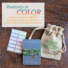In need of a Monday #MOODboost?. Tie on one of our #positivityincolor accessories. Find your perfect mood NOW: http://www.lifetherapy.com/color