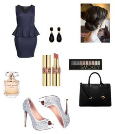 """""""17.12.2015"""" by velida-husic ❤ liked on Polyvore featuring H&M, Lauren Lorraine, MICHAEL Michael Kors, Yves Saint Laurent, Forever 21 and Elie Saab"""