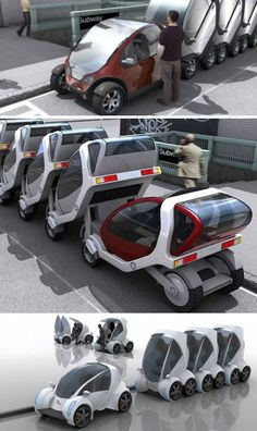 Stackable Futuristic Public Transit Cars, this would be awesome!!