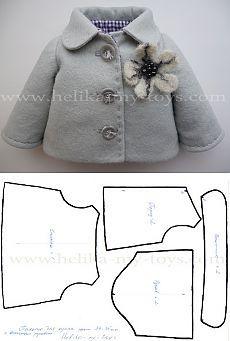 МК пальто для куклы   Детские мечты