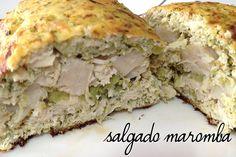 salgado maromba - peito de frango e couve-flor ou brócolis processado