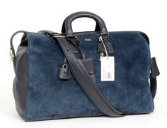 BRIONI Blue Suede Leather Boston Duffle Bag  |  Get in there! http://www.frieschskys.com/bags  |  #frieschskys #mensfashion #fashion #mensstyle #style #moda #menswear #dapper #stylish #MadeInItaly #Italy #couture #highfashion #designer #shopping