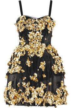 Embellished mesh dress by Dolce & Gabbana -  this really speaks to the embellishment-loving 12 year old in me!