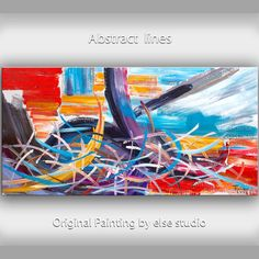 Art painting Original Oil painting Abstract art by elsestudio, $358.00