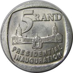 South Africa 5 Rand, Presidential Inauguration for sale online Sell Old Coins, Old Coins Worth Money, Old Money, Africa Quotes, News South Africa, Presidential Inauguration, Valuable Coins, Coin Worth, Coins For Sale