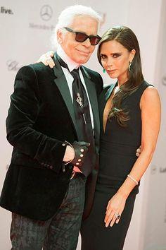 Victoria Beckham & Karl Lagerfeld