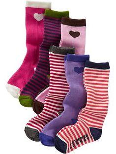 Boot-Sock 6-Packs for Baby   Old Navy
