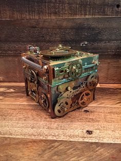 A personal favorite from my Etsy shop https://www.etsy.com/listing/280010382/steampunk-clockwork-collectible-jewelry