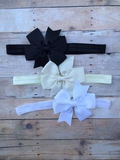 Neutral Colored Set Baby Bows!