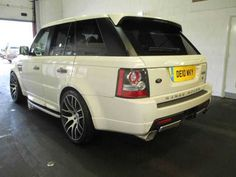 2010 Range Rover Sport 3.6 TDV8 Autobiography 5-door auto estate. White with red and black leather interior.