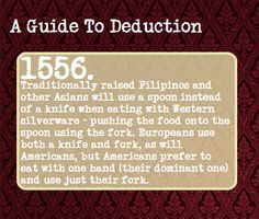 A Guide To Deduction - *Phillipinos