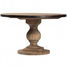 """industrial 51"""" round farmhouse table for breakfast nook"""