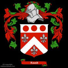 Irish Reed family crest, my dad's family