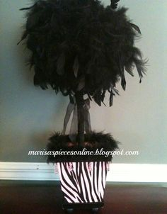 Girly Girl Feather Topiary