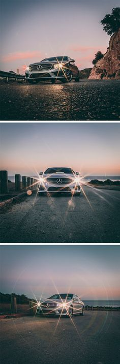The brightest star of all! The Mercedes-Benz CLA photographed by Andres Tardio via Mercedes-Benz USA. #mbphotopass