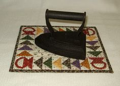 Want to make a mini like this to display my grandmothers old iron too!