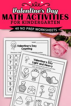 I'm so happy I found these kindergarten math worksheets in pdf format perfect for spring time and mothers day. I use them for my common core lesson plans. It also includes some free printable math addition worksheets for kindergarten that I used with my early finishers and math centers. This set includes so many sheets and pages that I created a special workbook for each of my students so they can practice, addition, counting, subtraction, make a pattern and more. Addition Worksheets, Math Addition, Addition And Subtraction, Kindergarten Math Activities, Maths, Literacy, Valentines Day Activities, Holiday Activities, Number Recognition Activities