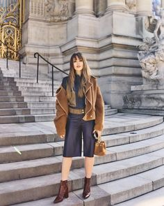 """Kristina Bazan on Instagram: """"Ready for the @maisonmargiela show, wearing @dvf and @rochasoficial. Shot by @anthography_ #KayturePFW #PFW"""""""