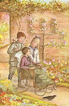 """The Secret Garden ✿⁀°  """"He had made himself believe that he was going to get well, which was really more than half the battle."""" Frances Hodgson Burnett. / - Tasha Tudor Artist"""