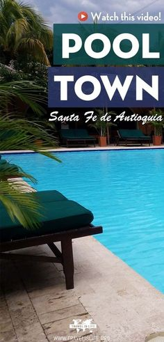 Join me in Santa Fe De Antioquia, a charming pueblo located just a couple hours outside of Medellín Colombia where tourists go to RELAX and SWIM in one of the town's 100+ pools! #colombia #medellin #southamerica #travel #pools