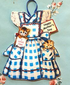 Vintage Mother's Day Card Ornament  Kitchen by ToysInTheCloset