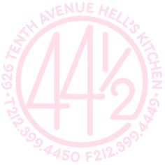 44 1/2  Scrumptious American cuisine,  impeccably served in one of Hell's Kitchen's  most beautiful venues.